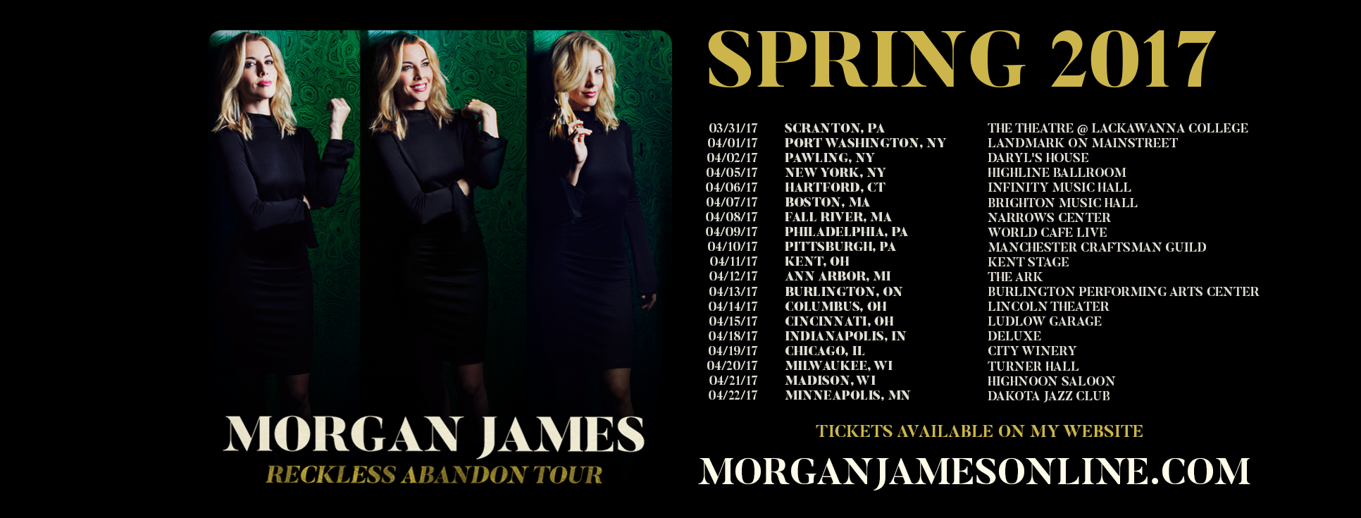 Morgan James - Reckless Abandon Tour Dates